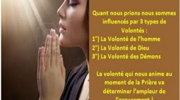 la prière efficace commence par une bonne volonté